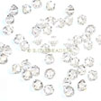 Swarovski Facet Bicone beads 3mm, Crystal Clear